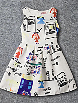 Girl's Going out Casual/Daily Print Dress,Rayon Summer Sleeveless