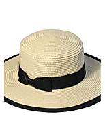 Summer Straw Hat Cap Beautiful Flower Girl&lady Round Wide Brim Hawaii Folding Soft Sun Hat Casual Foldable Brimmed Beach Hats