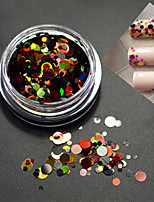 1Bottle Fashion Nail Art Mixed Size Colorful Laser Glitter Paillette Slice P2