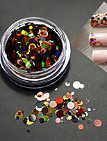 1botle моды ногтей смешанного размера красочные блестки блестка блестка блеск p2