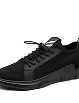Men's Athletic Shoes Spring Summer Fall Light Soles Canvas Outdoor Athletic Walking Black White