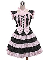 One-Piece/Dress Sweet Lolita Rococo Cosplay Lolita Dress Polka Dots Sleeveless Knee-length Dress Petticoat For Padded Fabric