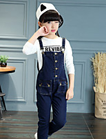 Girls' Casual/Daily Solid Overall & Jumpsuit Spring