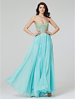 TS Couture Formal Evening Dress - N/A A-line Sweetheart Floor-length Chiffon with Appliques Sequins