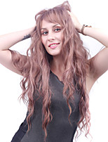 Long Body Wave Lilac Women Synthetic Wig Fiber Cheap Cosplay Party Hair