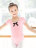 Ballet Leotards Kid's Cotton Spandex 1 Piece Short Sleeve