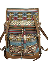 Women Backpack Canvas All Seasons Casual Magnetic