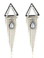 Women's Earrings Set Basic Tassel Geometric Metallic Rhinestone Alloy Jewelry For Party Gift Evening Party Club