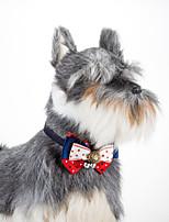 Cat Dog Adjustable Fashion Star Collar Bowtie with Bells