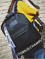 Women Sports & Leisure Bag Canvas All Seasons Sports Outdoor Professioanl Use Camping & Hiking Climbing Bucket Ruffles Zipper White Black