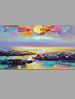 Knife Abstract Sea view Picture Canvas Handpainted Oil Painting Wall Art With Stretched Frame Ready to Hang