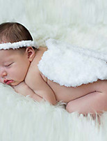 Newborn Baby's Feather Plush Head Ring Modelling of the Angel White Photographic Cloths Headwear