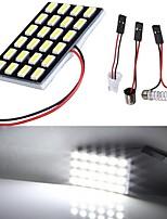 Lorcoo lumières de lumières de voiture led blanches t10 5050 24-smd 194 168 (4pcs)