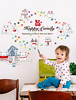 Happy Family Creative Cute Cats Living Room Wall Stickers Fashion Removable Wall Decals