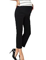 מכנסיים צ'ינו strenchy רזה גיזרה גבוהה אחיד פָּשׁוּט סגנון רחוב נשים