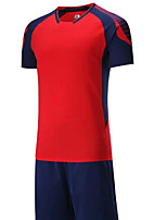 Men's Soccer Clothing Sets/Suits Breathable Quick Dry Summer Polyester Football/Soccer Blue Green Red Orange Black