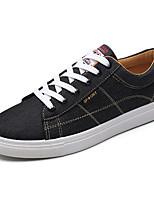 Черный и золотой Черно-белый Черный/Красный-Для мужчин-Повседневный-ПолиуретанУдобная обувь-Кеды