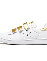 Men's Sneakers Summer Fall Comfort Light Soles PU Outdoor Casual Flat Heel Lace-up White/Green White/Silver Black/White Gold Walking