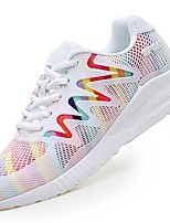 Women's Sneakers Summer Comfort Light Soles Tulle Outdoor Athletic Casual Running Low Heel Lace-up Pink/White Black