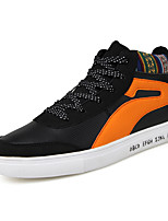 Черно-белый Оранжевый и черный-Для мужчин-Для прогулок Повседневный Для занятий спортом-Синтетика ТканьУдобная обувь-Кеды