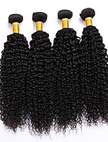Natural Color Hair Weaves Peruvian Texture Kinky Curly 12 Months 4 Pieces hair weaves