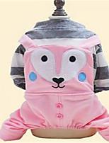 Hunde Overall Hundekleidung Frühling/Herbst Karton Niedlich Grün Rosa