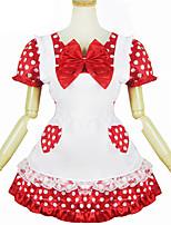 Инвентарь Сладкое детство Лолита Косплей Платья Лолиты Однотонный С короткими рукавами Короткие / Мини Для