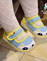 Girls' Flats Spring Fall First Walkers Leatherette Outdoor Casual Flat Heel Low Heel Magic Tape Light Pink Light Blue Walking