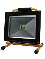 Hkv® 1pcs 50w 4850-4950lm 6000-6500k luz branca fria luz de inundação chargeable carregável luzes de emergência levou o projector (ac