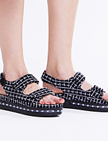 Women's Sandals Summer Fall Light Up Shoes Comfort Novelty PU Outdoor Athletic Casual Flat Heel Magic Tape LED Walking