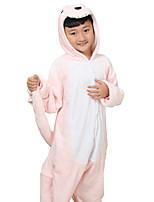 Kigurumi Pijamas Anime Collant/Pijama Macacão Festival/Celebração Pijamas Animais Dia das Bruxas Rosa Estampado Animal Flanela Para