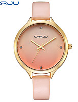 Women's Fashion Watch Quartz PU Band White Pink