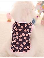 Собаки Платья Одежда для собак Милые Мода Принцесса Черный