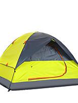3-4 personnes Tente Double Tente pliable Deux pièces Tente de camping 2000-3000 mm Fibre de verre Oxford Etanche Portable-Randonnée