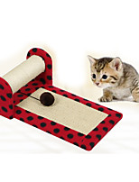 Cat Toy Pet Toys Interactive Scratch Pad Durable Plush Blue Red