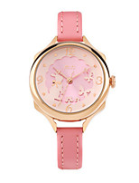 Women's Fashion Watch Quartz / Leather Band Casual White Gold Pink Blushing Pink White Gold