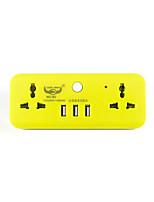 Bande de puissance avec 2 pieds universels code 3 usb chargeur d'alimentation 220v 10a
