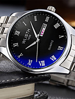 Женские Модные часы Кварцевый сплав Группа Повседневная Серебристый металл