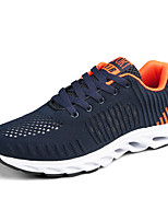 Men's Sneakers Spring Fall Comfort Tulle Casual Lace-up Gray Dark Blue Black Walking
