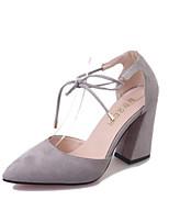 Femme Chaussures à Talons club de Chaussures Daim Printemps Eté Automne Extérieure Bureau & Travail Décontracté Marche Creuse Gros Talon