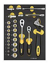 Stanley Werkzeugsatz 27 Stück 10 12,5 mm Serie 6 Winkelhülse lt-025-23