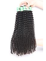 Cabelo Humano Ondulado Cabelo Peruviano Kinky Curly 18 Meses 3 Peças tece cabelo