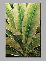 Hand-Painted Abstract Botanical Modern One Panel Canvas Oil Painting For Home Decoration