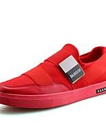 Для мужчин Кеды Удобная обувь Полотно Микроволокно Весна Лето Для прогулок Повседневный Для занятий спортом Шнуровка На плоской подошве