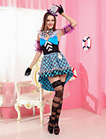Alice in Wonderland 2 Mad Hatter Costume Adults Women Fantasias Feminina Cosplay Kigurui Halloween Role Play Carnival Costume Fancy Party Dress