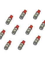 10Pcs T10 9*5050 SMD LED Car Light Bulb Bule Light DC12V