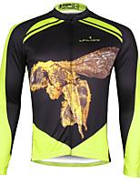 ILPALADINO Camisa para Ciclismo Homens Manga Comprida MotoRespirável Secagem Rápida Resistente Raios Ultravioleta Compressão Materiais