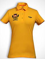 Femme Manches courtes Golf T-shirt POLO Hauts/Tops Respirable Anti-transpiration Confortable Jaune Golf Sport de détente