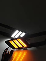 2014-2017 Year For-d Focus LED DRL Turn Signal Lamp Kit White/Yellow Colors(Left/Right Side LED Lamp Kit)