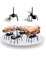 12Pcs/Set    Reusable Kawaii Ant Fruit Fork Newest Tableware Multiple Use Snack Cake Dessert Forks For Party Fruit Pick